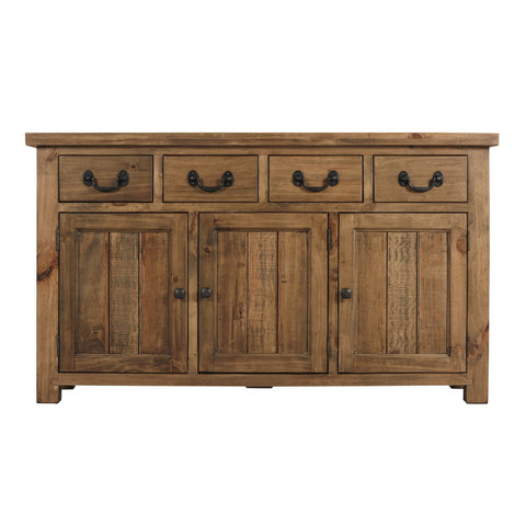 Cotswold Rustic Sideboard with 3 Door & 4 Drawers - Assembled