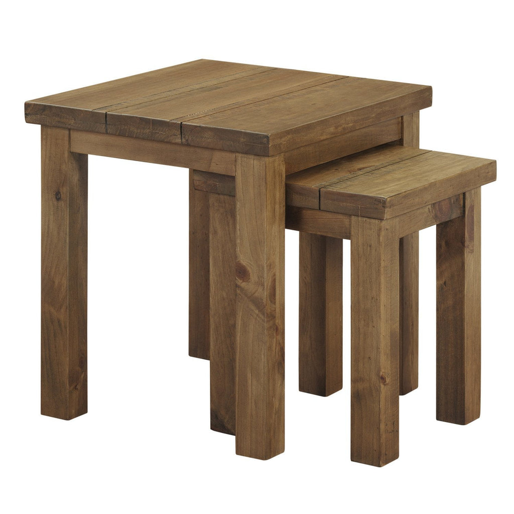 Cotswold Rustic Nest Of 2 Tables Assembled