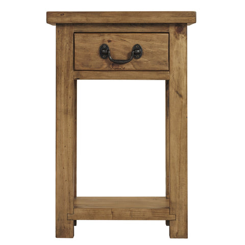 Rustic Console Table with Drawer