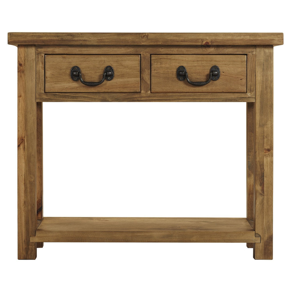 Cotswold rustic console table with drawers