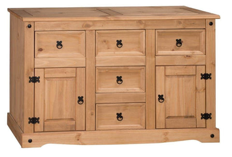Corona 2 Door 5 Drawer Sideboard