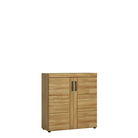 Cortina 2 door shoe cupboard in Grandson Oak Finish