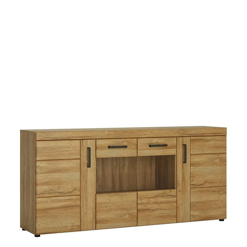 Cortina 4 door wide sideboard in Grandson Oak Finish