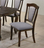 Denver Solid Dark Wood Dining Table Set With 6 Chairs