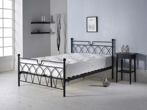 Metal Double Bed In Black