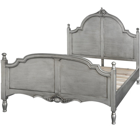 Estelle Silver Leaf King Size Bed