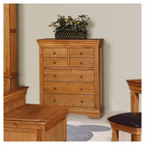 Doral Oak 3+4 Drawers Chest - Assembled