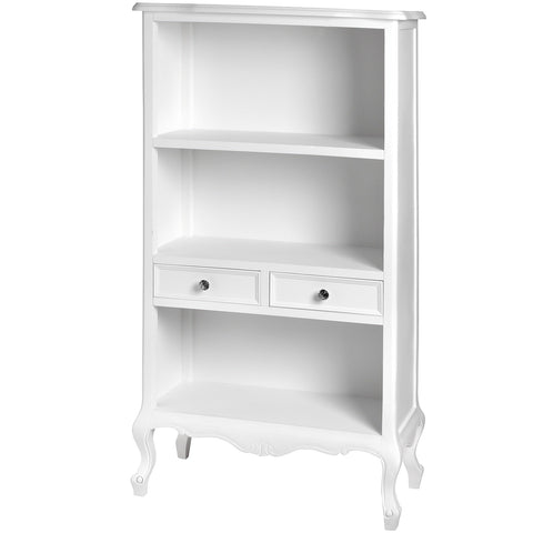 Fleur White 2 Drawer Bookcase