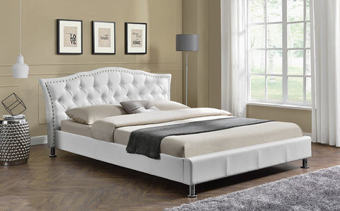 Georgio Luxury Designer Double Bed - White
