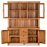 Orland Oak 2 Door 3 Drawer Sideboard Plus Hutch – Assembled