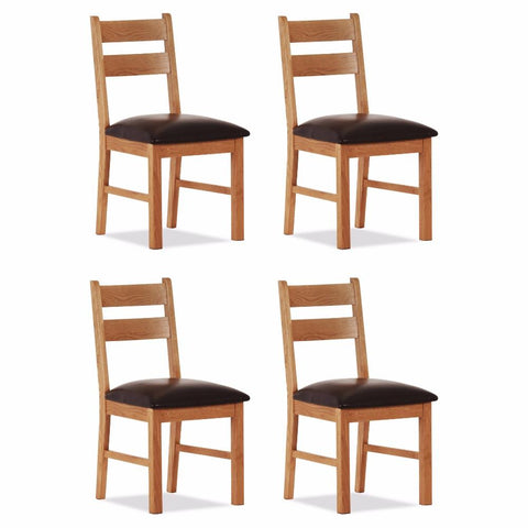 Orland Oak Low Chair (Set of 4) – Assembled