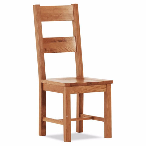 Orland Oak Large Chair With Wooden Seat – Assembled