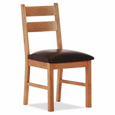 Orland Oak Low Chair – Assembled