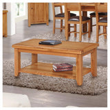Orland Oak Large Coffee Table – Assembled