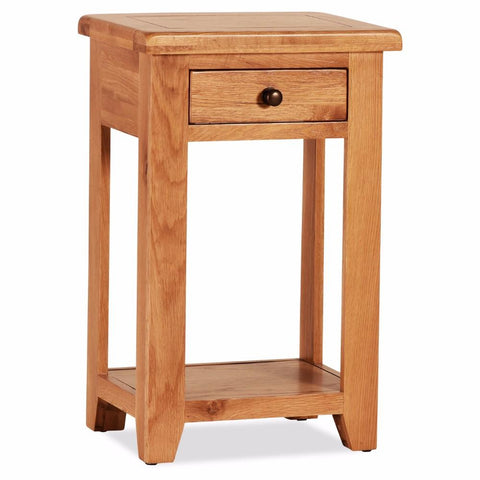 Orland Oak 1 Drawer Mini  Console Table – Assembled