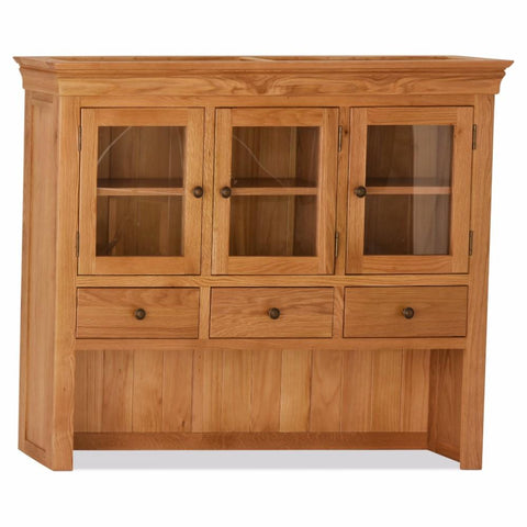 Orland Oak Large 3 Door 3 Drawer Hutch – Assembled