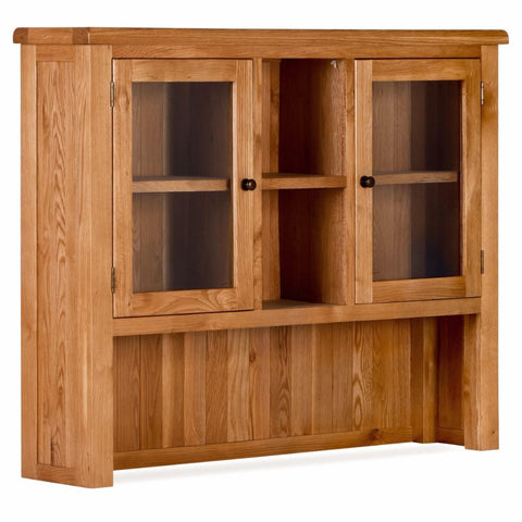 Orland Oak Large 2 Door Hutch – Assembled