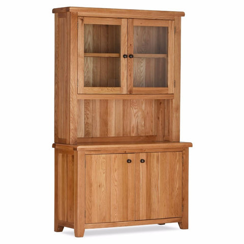 Orland Oak 2 Door Sideboard Plus Hutch – Assembled