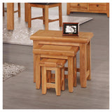 Orland Oak Nest of 3 Tables – Assembled