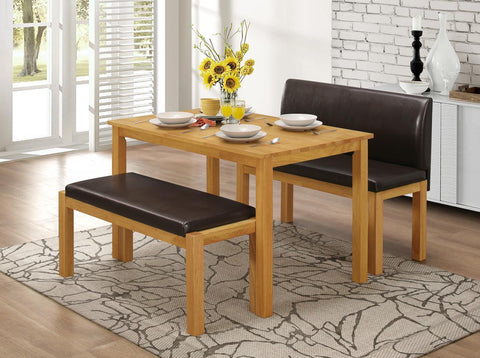 Hamra Oak Effect Dining Set with 2 Benches