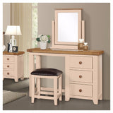 Jenison Oak 3 Drawer Dressing Table - Assembled