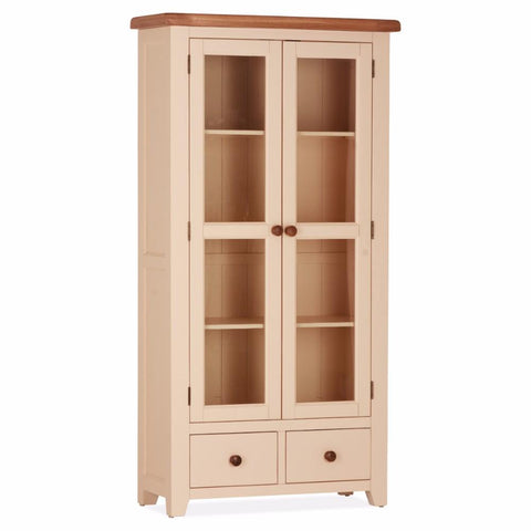 Jenison Oak Double Display Cabinet – Assembled