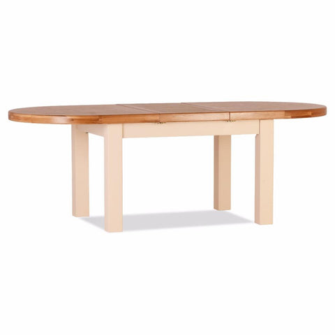 Jenison Oak Heavy Oval Extension Table