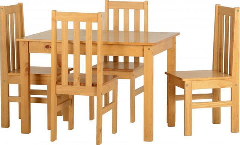 Ludlow Dining Set In Oak Lacquer (Table + 4 Chairs)