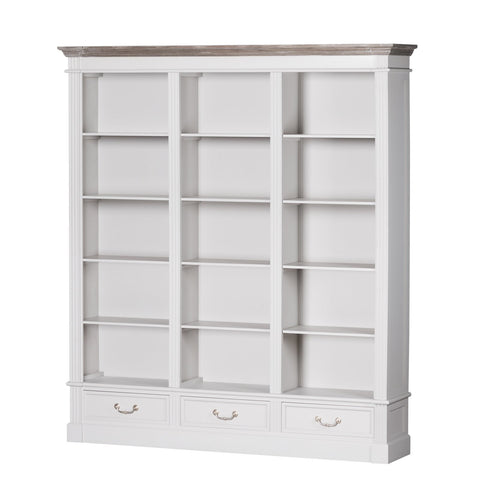 Liberty Collection Three Drawer Large Display Bookcase
