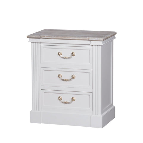 Liberty Collection 3 Drawer Bedside Table