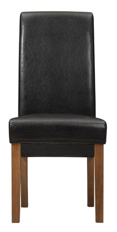London Faux Leather Wooden Chair