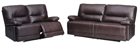 Milo Designer Reclining Sofa Set (3+2 or 3+1+1) - Black & Brown