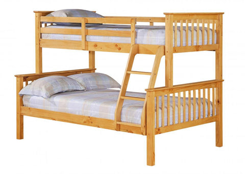 Porto Wooden Triple Bunk Bed - Pine