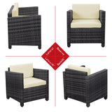 4 Piece Outdoor Rattan Furniture Set