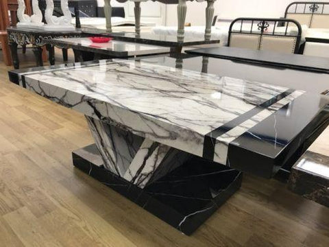 Aberdeen Marble Effect High Gloss Coffee Table
