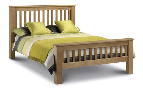 Amsterdam Oak Bed With High Foot End - Double, King Size & Super King