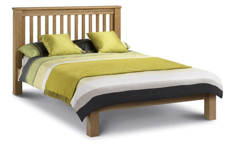 Amsterdam Oak Bed With Low Foot End - Double, King Size & Super King