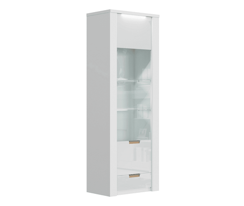 Arctic White High Gloss Tall Display Unit