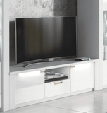 Arctic White High Gloss TV Unit with LED Lights