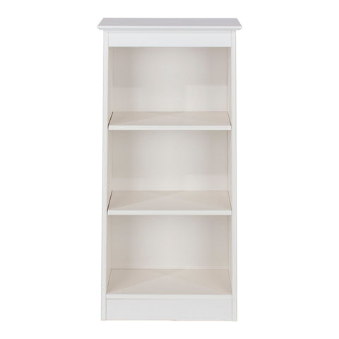 Core Products Aspen Low Narrow Bookcase - Wooden Painted White