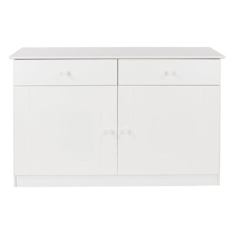 Core Products Aspen 2 Door 2 Drawer Large Sideboard - Wooden Painted White