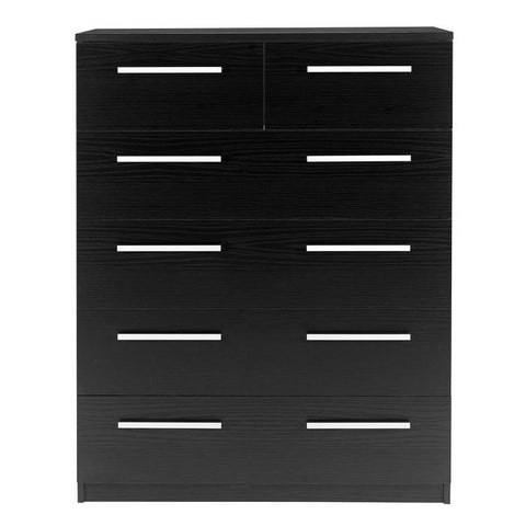 Designa 2+4 Chest of Drawers Black Ash