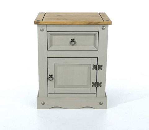 Corona Painted 1 door & 1 drawer Bedside Table