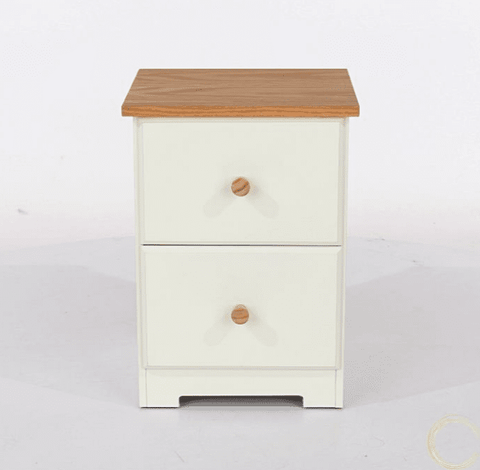 2 Drawer Petite Painted Bedside Table