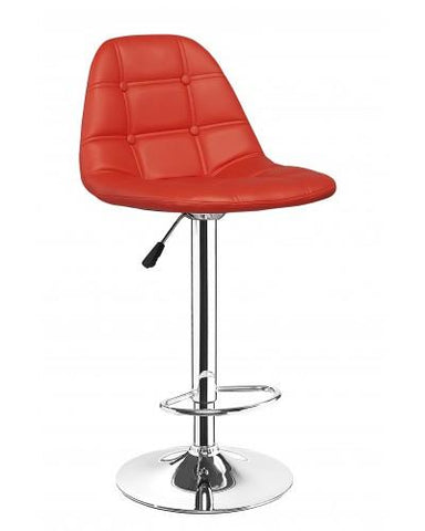 Modern Adjustable Swivel Bar Stool/Chair - Red, White, Black - Set of 2