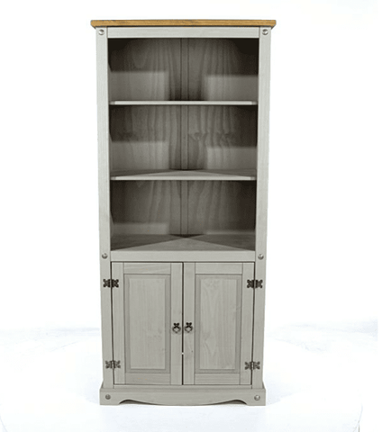 Corona Grey Bookcase With 2 Doors