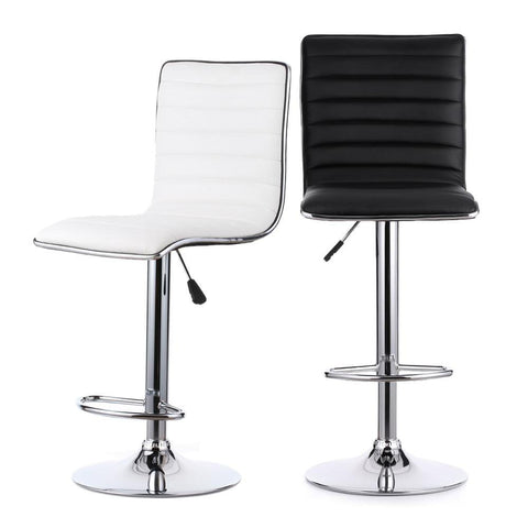Height Adjustable Breakfast Chairs (Pair)