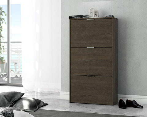 Marv Dark Oak Finish Shoe Cabinet