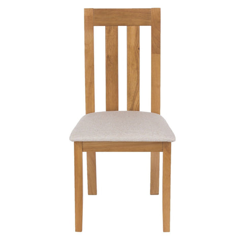 Hamilton Wooden Chairs With Cream Fabric Seat Pads (Set of 2)