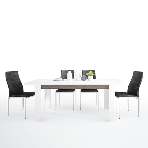 Chelsea Living Extending Dining Set with 4 Milan High Back Chair
